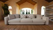Canapé de luxe 3d model
