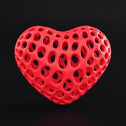 Model szkieletowy serca 3d model