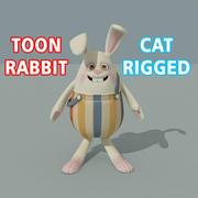 toon rabbit 3d model