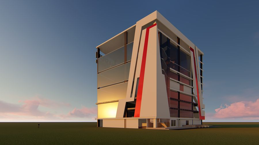 Edifício ginásio royalty-free 3d model - Preview no. 3
