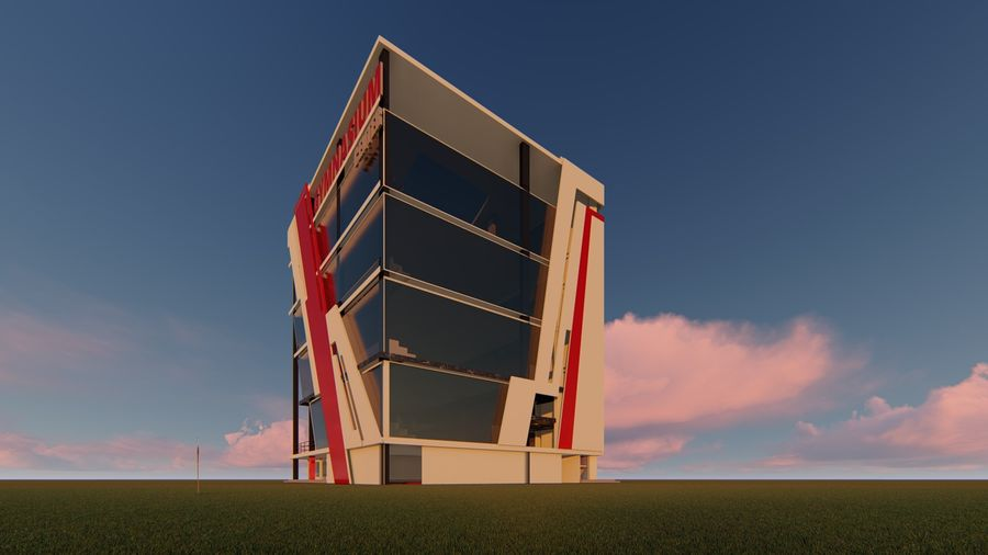 Edifício ginásio royalty-free 3d model - Preview no. 2