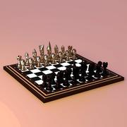 Chess Set Medieval 3d model