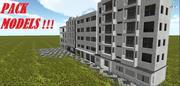 Packing buildings 3d model