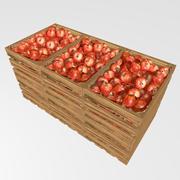 りんごと木箱 3d model