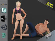 Пакет Белых Людей 3d model