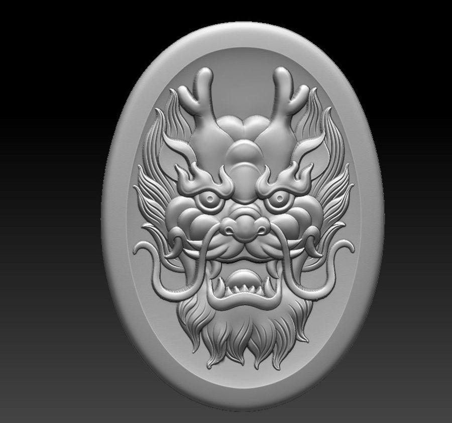 Głowa smoka royalty-free 3d model - Preview no. 1