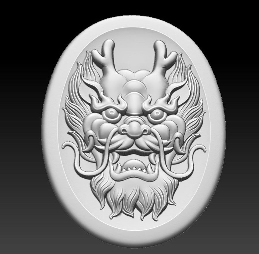 Głowa smoka royalty-free 3d model - Preview no. 2