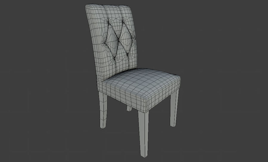 PBR Chair Furniture royalty-free 3d model - Preview no. 3