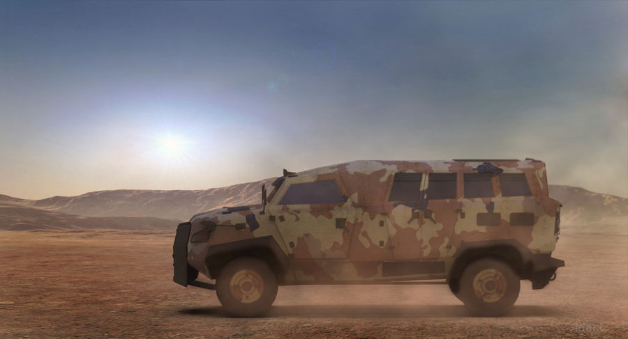 Military Vehicle Unique Concept royalty-free 3d model - Preview no. 12
