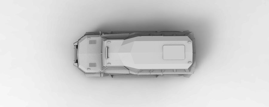 Military Vehicle Unique Concept royalty-free 3d model - Preview no. 10