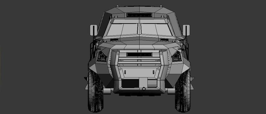 Military Vehicle Unique Concept royalty-free 3d model - Preview no. 2