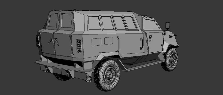 Military Vehicle Unique Concept royalty-free 3d model - Preview no. 6