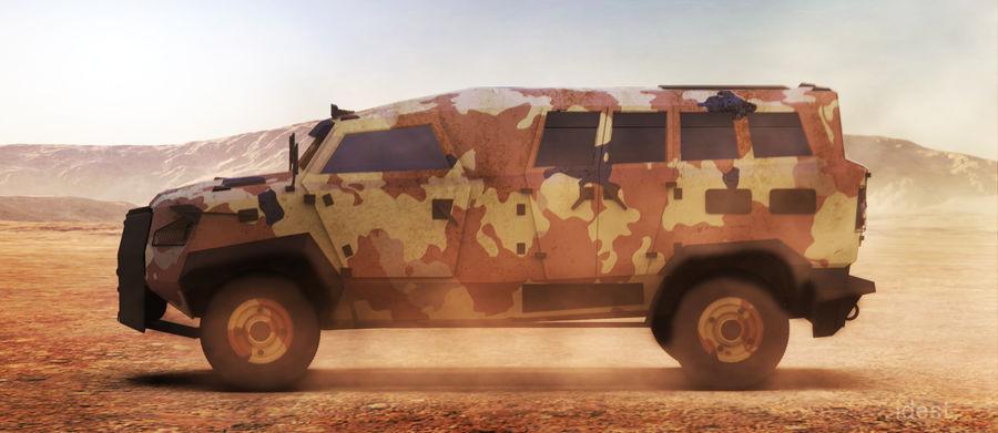 Military Vehicle Unique Concept royalty-free 3d model - Preview no. 1