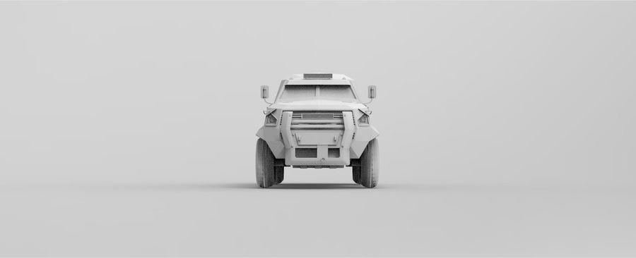 Military Vehicle Unique Concept royalty-free 3d model - Preview no. 8