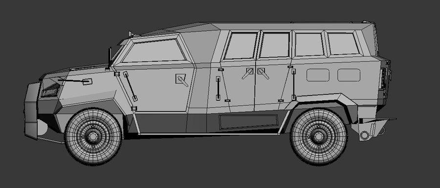Military Vehicle Unique Concept royalty-free 3d model - Preview no. 4