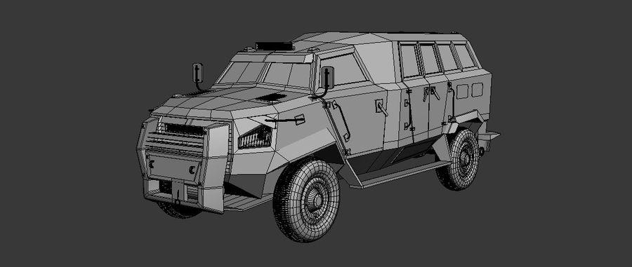 Military Vehicle Unique Concept royalty-free 3d model - Preview no. 3