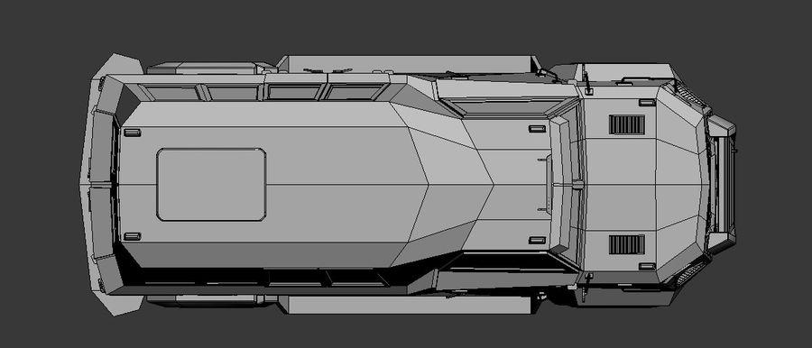 Military Vehicle Unique Concept royalty-free 3d model - Preview no. 7