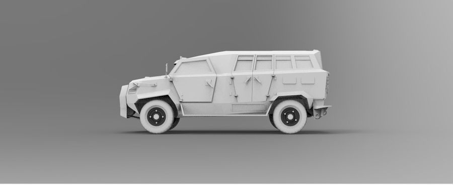 Military Vehicle Unique Concept royalty-free 3d model - Preview no. 9