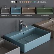 Lavabi Ceramica Cielo Smile 3d model