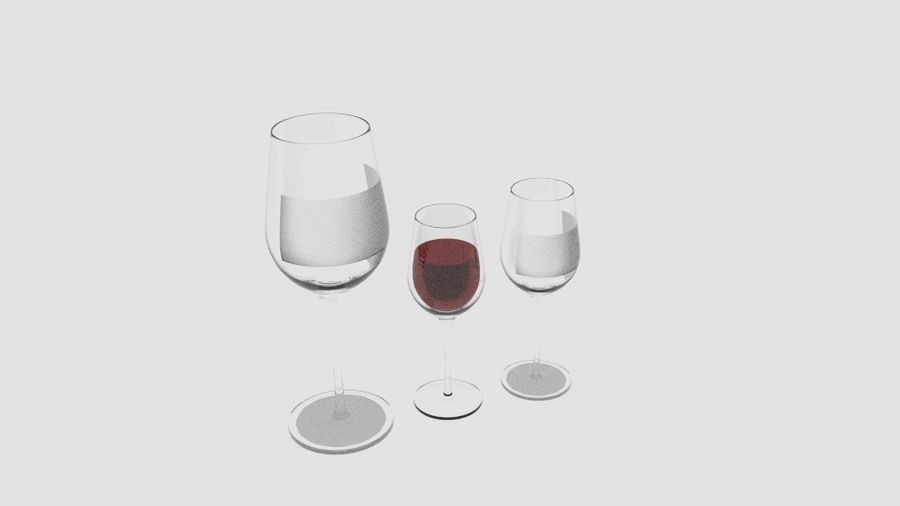 Glass Wine royalty-free 3d model - Preview no. 2