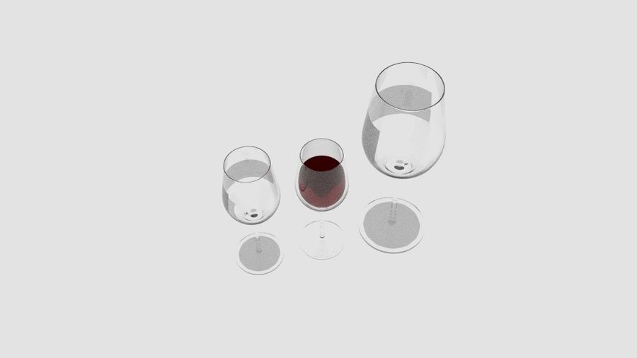 Glass Wine royalty-free 3d model - Preview no. 4