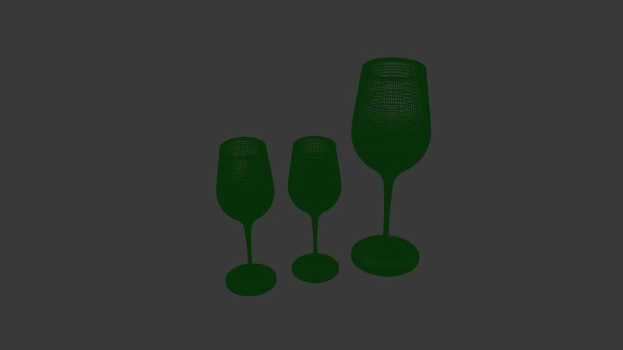 Glass Wine royalty-free 3d model - Preview no. 6