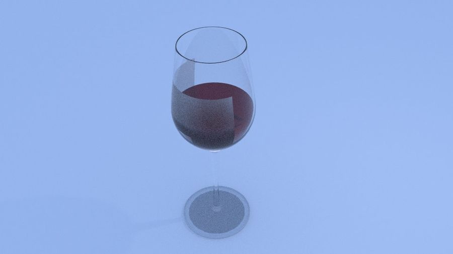 Glass Wine royalty-free 3d model - Preview no. 8