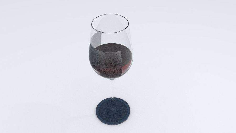 Glass Wine royalty-free 3d model - Preview no. 7