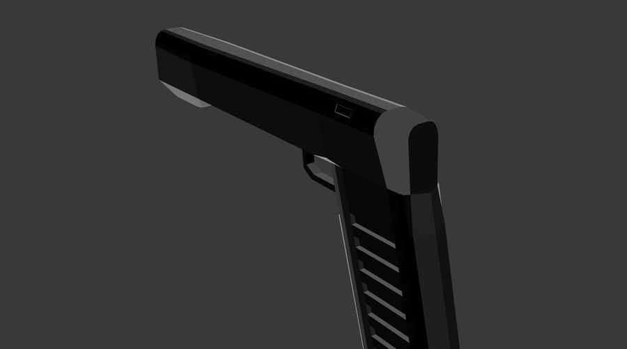 Futurystyczny pistolet royalty-free 3d model - Preview no. 3
