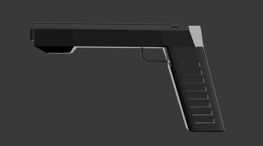 Futurystyczny pistolet royalty-free 3d model - Preview no. 2