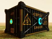 Contenedor de envío de alta tecnología modelo 3d