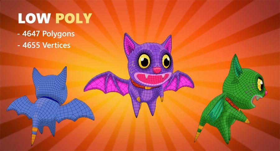 Fledermaus Katze royalty-free 3d model - Preview no. 4