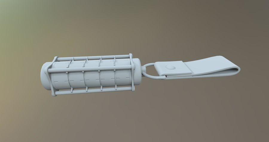 USB-blixt royalty-free 3d model - Preview no. 7