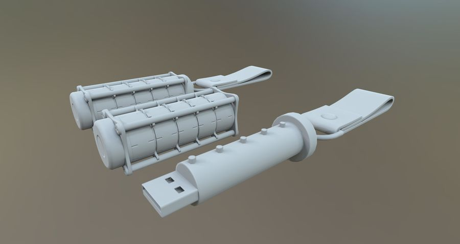 USB-blixt royalty-free 3d model - Preview no. 1