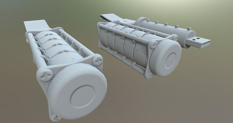 USB-blixt royalty-free 3d model - Preview no. 3