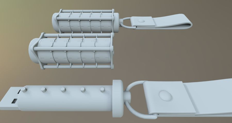 USB-blixt royalty-free 3d model - Preview no. 6