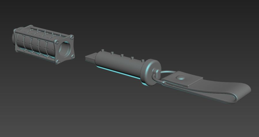 USB-blixt royalty-free 3d model - Preview no. 11