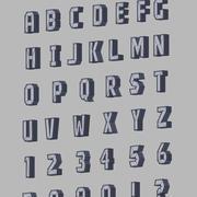 Alfabeto 3d model