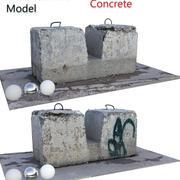 Skan betonu 3d model