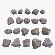 stenen collectie 3d model