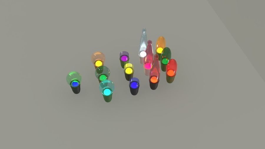 String Lights royalty-free 3d model - Preview no. 12