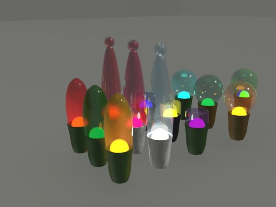 String Lights royalty-free 3d model - Preview no. 11