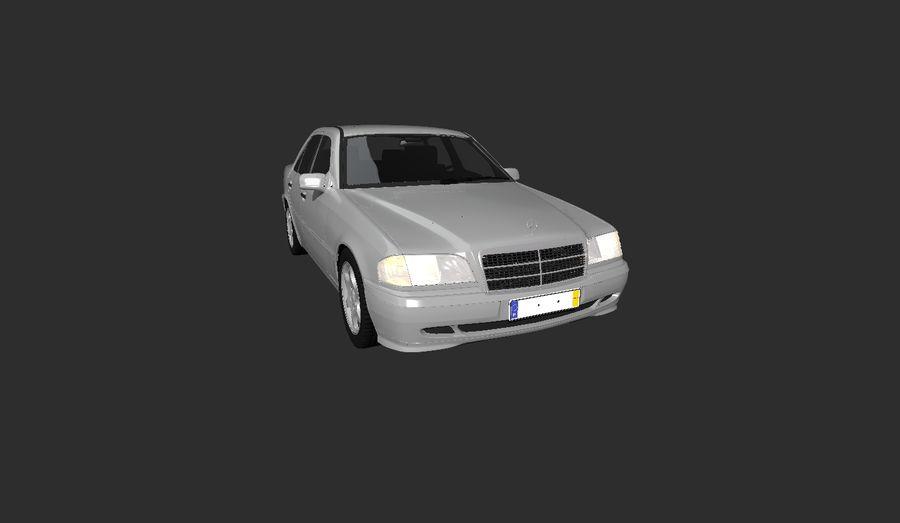 梅赛德斯C级w202 royalty-free 3d model - Preview no. 3