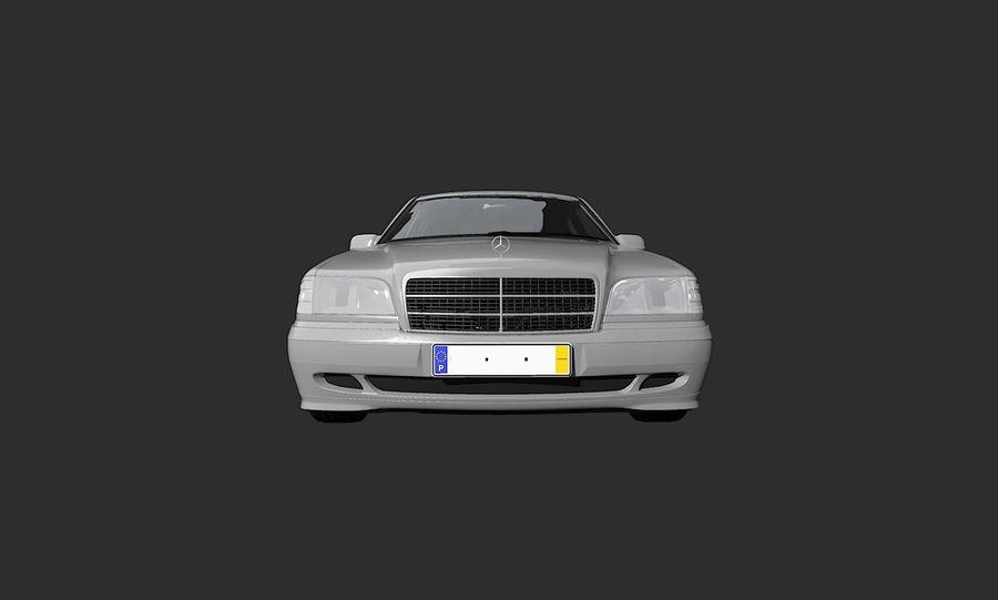 梅赛德斯C级w202 royalty-free 3d model - Preview no. 4