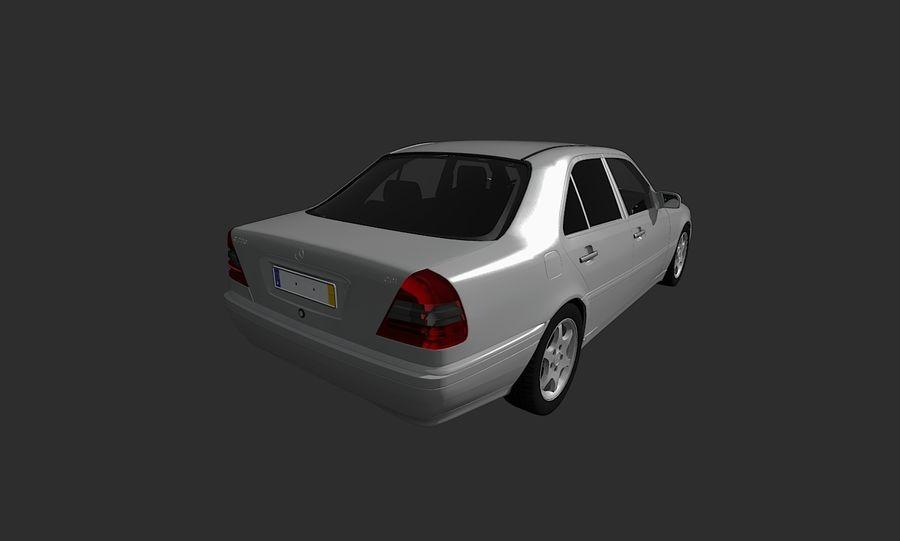 梅赛德斯C级w202 royalty-free 3d model - Preview no. 6