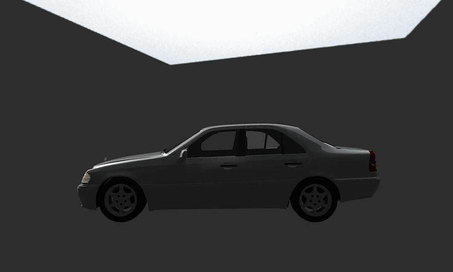 梅赛德斯C级w202 royalty-free 3d model - Preview no. 9