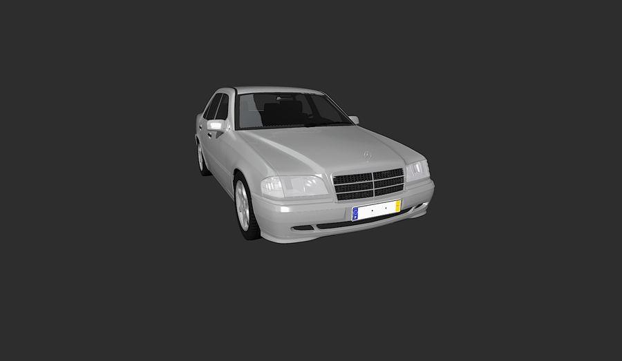 梅赛德斯C级w202 royalty-free 3d model - Preview no. 1
