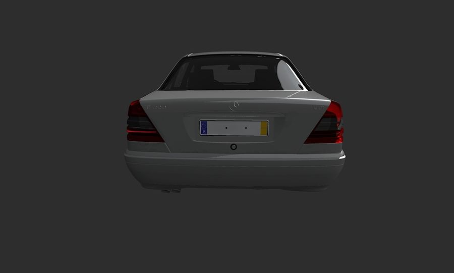 梅赛德斯C级w202 royalty-free 3d model - Preview no. 7