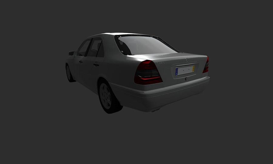 梅赛德斯C级w202 royalty-free 3d model - Preview no. 8