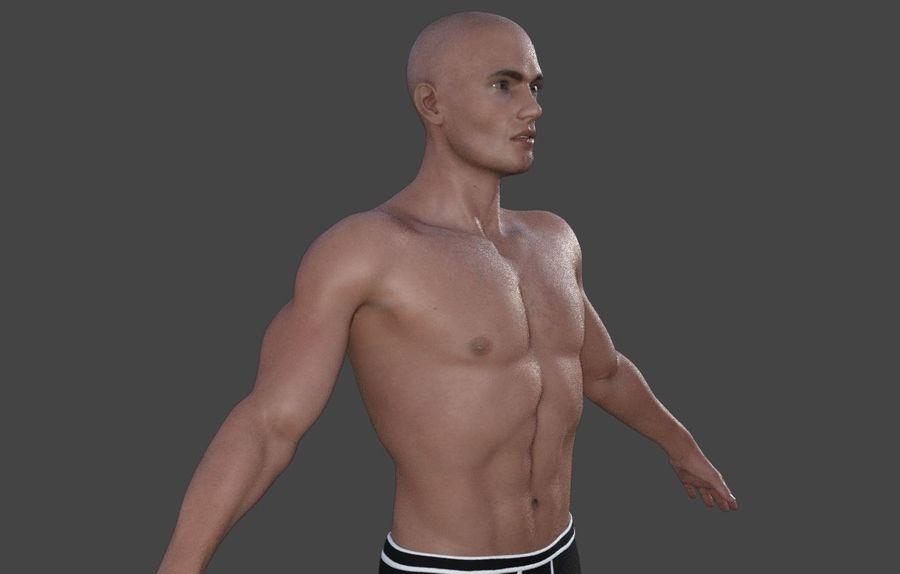 Körper männlich royalty-free 3d model - Preview no. 17